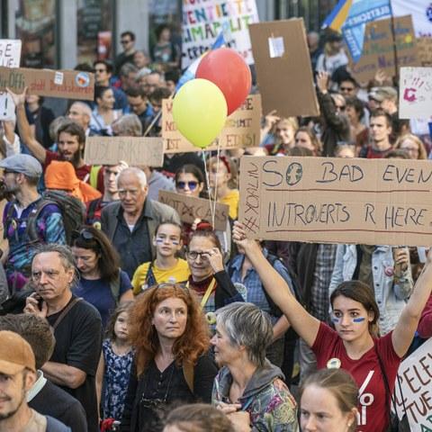 Klima Demo Bern(c)Pascal Staedeli. Vergrösserte Ansicht