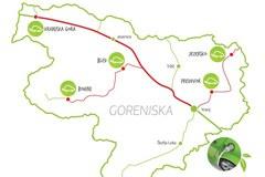 Auf dem Weg zu nachhaltiger Mobilität: Das Netzwerk der fünf neuen Elektrotankstellen in der Grenzregion Oberkrein/SI.