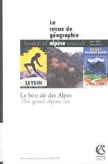 La revue de géographie: Le bon air des Alpes