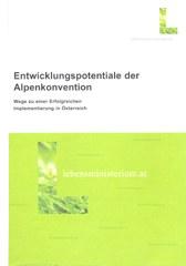 Entwicklungspotentiale der Alpenkonvention