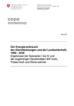 Energieverbrauch in Dienstleistung und Landwirtschaft