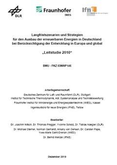 Langfristszenarien und Strategien für den Ausbau der erneuerbaren Energien in Deutschland bei Berücksichtigung der Entwicklung in Europa und global
