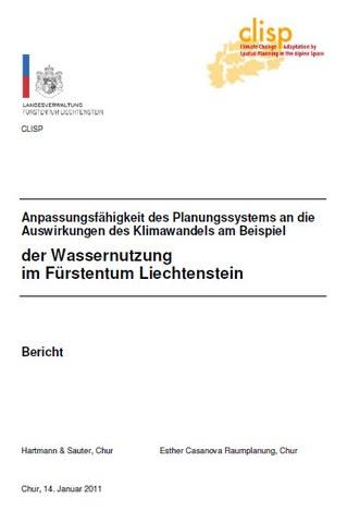 Anpassungsfähigkeit des Planungssystems an die Auswirkungen des Klimawandels am Beispiel der Wassernutzung im Fürstentum Liechtenstein