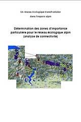 Détermination des zones d'importance particulière pour le réseau écologique alpin (analyse de connectivité)