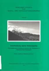 Münchner Studien zur Sozial- und Wirtschaftsgeographie