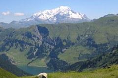 Landschaft mit Mont Blanc