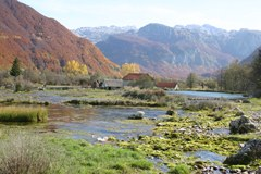 Autumn mood in the Prokletije area of the Dinarides on the Montenegrin-Albanian border