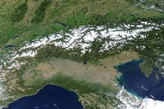 The Alpine Arc: criss-crossed by 4,200 km of roads