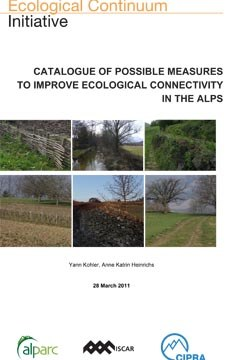 Catalogue of possible measures to improve ecological connectivity in the alps