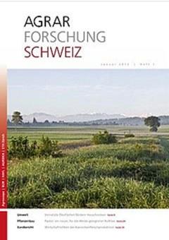 Cover Agrarforschung Schweiz