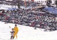 Parkplatz unterhalb Skigebiet