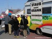 Messtastion von Greenpeace zur Feinstaubmessung