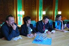 Outre les trois organisateurs, le maire de Bad Reichenhall, Herbert Lackner, a également pris part à la conférence de presse.