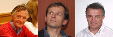 Le nouveau jury : Gerhard Leeb, Norbert Weixlbaumer et Antonio Zambon.