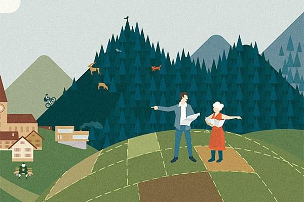 alpMonitor : la qualité de vie repose sur un aménagement du territoire réussi. © Johannes Gaultier