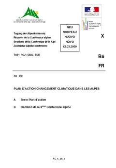Plan d'action sur le changement Climatique dans les Alpes