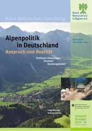 Cover der Studie Alpenpolitik in Deutschland - Anspruch und Realität