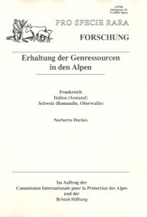 Erhaltung der Genressourcen in den Alpen - westen