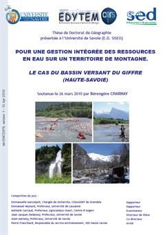 Pour une gestion intégrée des ressources en eau sur un territoire de montagne