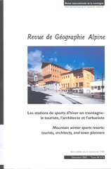 Revue de Géographie Alpine: Stations de sports d'hiver