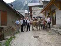 Gruppenfoto mit Esel