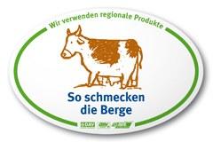 """Un rifugio aderente all'iniziativa """"Il sapore delle montagne"""" si riconosce dal cartello con il marchio della mucca - oltre che dal menu, in cui sono evidenziate le relative offerte."""