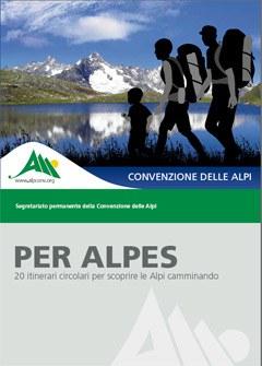 Per Alpes contiene numerose informazioni utili per partire alla scoperta dei molteplici paesaggi e delle curiosità culturali locali delle Alpi per pedes o con i mezzi pubblici.