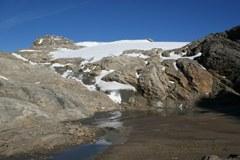 Ghiacciaio Wasserfallwinkelkees: con il cambiamento climatico le Alpi potrebbero perdere la loro funzione di serbatoio idrico d'Europa.