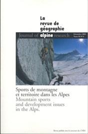 Cover der Revue de Géographie alpine, Tome 92 N°4
