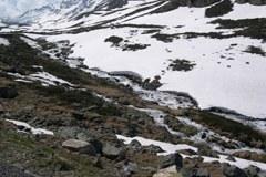 Schneeschmelze im Gebirge