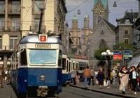 Ein Tram in Zürich