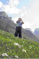 Jodler in den Alpen