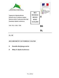 Akcijski načrt za podnebje v Alpah